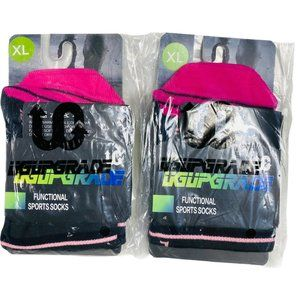 2Pc XL Pink Running Athletic Ankle Sport Socks
